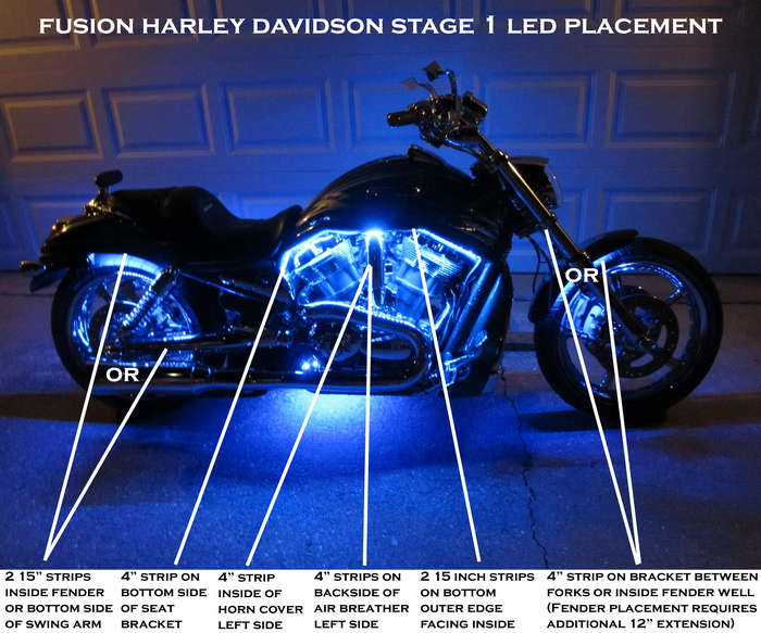Harley Davidson Fusion Stage 1 22 Color Led Kit Fusion